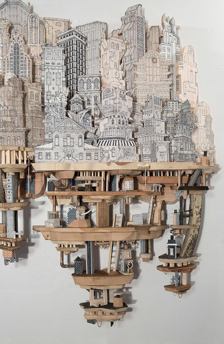 【欧美61创意设计】将绘画与雕刻结合创造出反式的