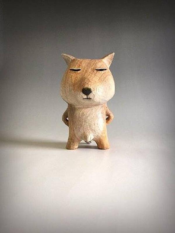 【工艺设计】日本雕塑家田岛享央己的萌系木雕小动物