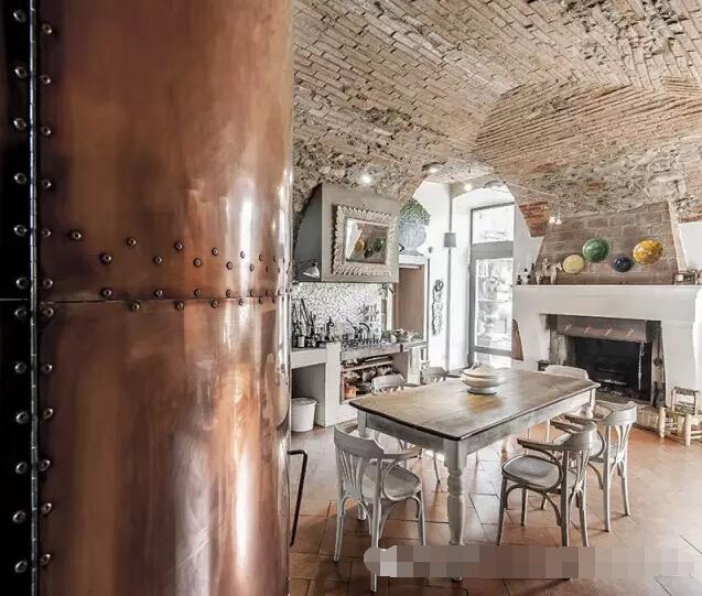 【欧美家居设计】意大利:轻工业风乡村复古住宅